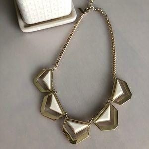Reversible Gold Geometric Necklace